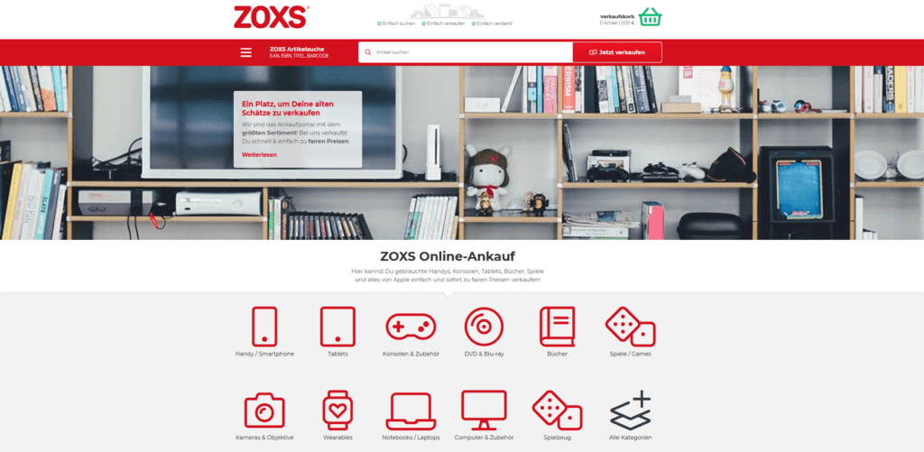 Zoxs-Ankauf-Portal