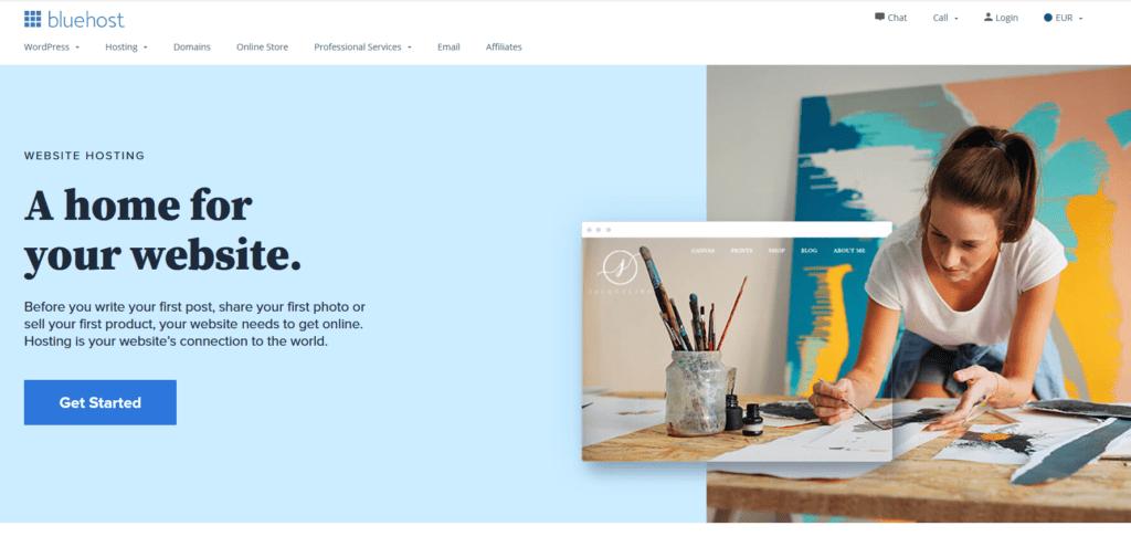 Webhosting-Vergleich-Bluehost